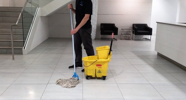 janitor in building